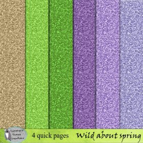 Wild about spring glitter papers