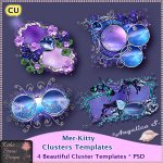 Mer-Kitty Clusters Template Pack CU