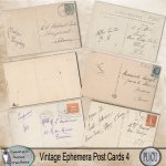 Vintage ephemera postcards 4