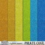 Pirate cove glitter papers