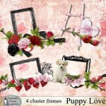 Puppy love cluster frames