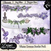 WINTER DREAMS BORDER PACK - TAGGER SIZE