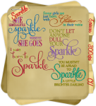 Sparkle word art