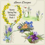 Sunny Spring Day Clusters Pack1 by Lemur Designs