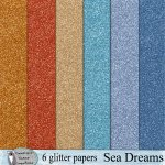 Sea Dreams glitter papers