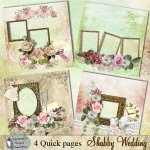 Shabby Wedding quick pages