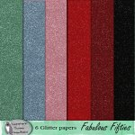 Fabulous fifites glitter papers