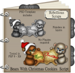 Bears With Christmas Cookies Script