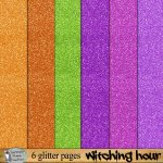 Witching hour glitter papers