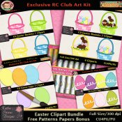 Easter Clipart Bundle With Bonus Paper Patterns - CU