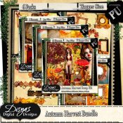 AUTUMN HARVEST SCRAP KIT BUNDLE PACK - TAGGER SIZE