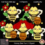 Honey Bee Fun 2 Clipart - CU