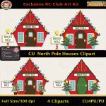 North Pole Houses Clipart - CU