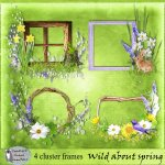 Wild about spring cluster frames