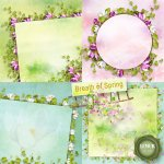 Breath of Spring stacked papers by Lemur Designs