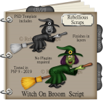 Witch On Broom Script