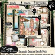 ROMANTIC SUMMER SCRAP KIT BUNDLE TAGGER SIZE