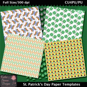 St. Patrick's Day Paper Templates - CU