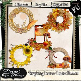 THANKSGIVING SEASON CLUSTER FRAME PACK - TAGGER SIZE