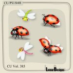 CU Vol. 385 Ladybug Dragonfly by Lemur Designs