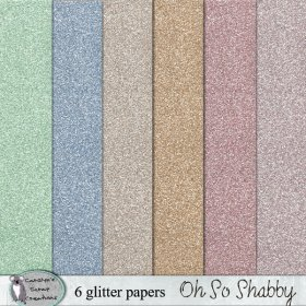 Oh So Shabby glitter papers