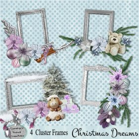 Christmas Dreams Cluster frames