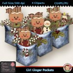 Girl Ginger Pockets - Clipart CU