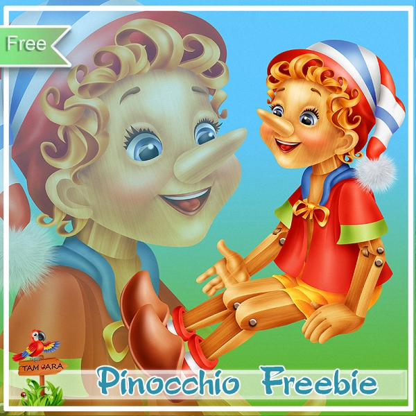 Pinocchio Freebies by Tamara